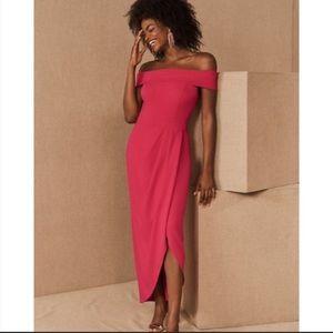 BHLDN Thompson Off-the-Shoulder PINK Dress